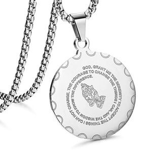 """Other - New Stainless Steel Coin Pendant Necklace 24"""""""